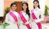 Hoa hậu Mỹ Linh cùng 2 Á hậu đẹp ngẩn ngơ trong tà áo dài trắng