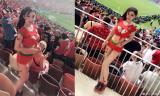 Hot girl Trung Quốc gây xôn xao vì mặc quá bốc lửa đến Nga cổ vũ World Cup