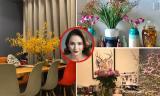 Không gian ngập tràn sắc hoa bên trong căn hộ của Hoa hậu Ngọc Diễm