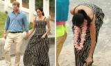 Công nương Meghan Markle mặc đầm maxi hơn 33 triệu, thoải mái cởi giày đi chân trần trên cát