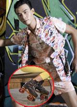 Thí sinh Next Top Model 'quậy' hết cỡ với giày patin