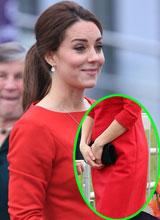 Công nương Kate lộ rõ bụng bầu dù mặc váy suông rộng