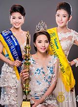 Hoa hậu Kỳ Duyên đẹp trong trẻo bên hai Á hậu