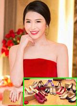 Bà xã Đăng Khôi khoe bộ sưu tập giày đẹp lung linh