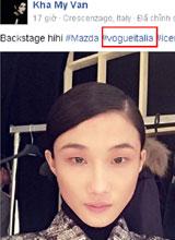 Kha Mỹ Vân khoe ảnh hậu trường chụp cho Vogue Ý