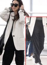 Jung Ryeo Won mất điểm vì quần rộng thùng thình và nhăn nhúm
