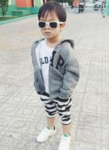 Con trai Lý Hải bảnh bao với 'gu' thời trang cực ngầu