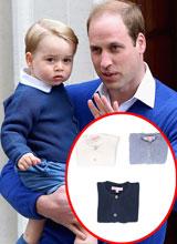 Áo của Hoàng tử George bán hết sạch chỉ trong 1 đêm