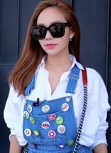Minh Hằng diện đồ trẻ trung như gái 18 ở Hàn Quốc