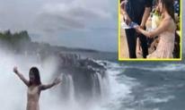 Ham mê 'sống ảo', gái trẻ suýt chết thảm khi tạo dáng bên bờ biển
