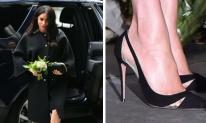 Lộ đôi chân sưng phù vì bầu bí Công nương Meghan Markle vẫn quyết đi giày cao gót