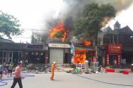 Hà Tĩnh: Cháy lớn xưởng ép thủy lực ôtô, nhiều tài sản bị thiêu rụi