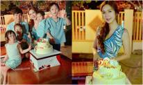 Bà xã Lý Hải - Minh Hà đón sinh nhật tuổi 34 ấm áp bên chồng và các con