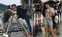Đi du lịch Đài Loan cùng bạn trai Hiền Sến, Lý Phương Châu lại bị soi vết 'thâm đen' ở đầu gối