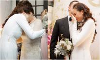 MC Phương Mai nghẹn ngào bật khóc trong ngày lên xe hoa với chồng Tây