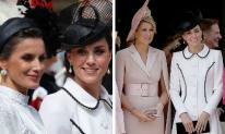 Công nương Kate thể hiện đẳng cấp thời trang khi xuất hiện cùng chung khung hình với Hoàng hậu Tây Ban Nha và Hà Lan
