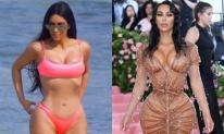 Kim Kardashian bị nghi 'cắt xương sườn' để có vòng eo con kiến