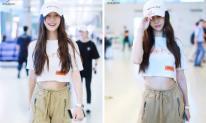 Chẳng chịu kém cô bạn thân Dương Mịch, Angelababy cũng tham gia đường đua khoe eo con kiến