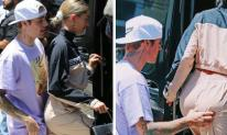 Giữa thanh thiên bạch nhật, Justin Bieber lộ thói hư hỏng khi 'sàm sỡ' vòng ba của vợ