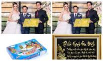 Dân mạng đua nhau đoán vật phẩm bên trong hộp quà Ngọc Sơn tặng vợ chồng Cường Đô la
