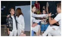 Bận rộn trăm công ngàn việc, Nhã Phương vẫn đích thân đến chăm sóc ông xã Trường Giang tại phim trường