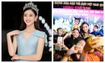 Hàng ngàn người dân Cao Bằng vây kín chào đón Hoa hậu Lương Thuỳ Linh