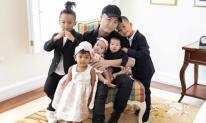 NTK Đỗ Mạnh Cường đăng loạt ảnh gia đình hạnh phúc, quây quần bên 5 con