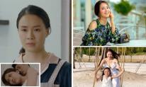 Trong phim 'Hoa hồng trên ngực trái' bị chồng ngoại tình và bạo lực, ngoài đời cuộc sống của Hồng Diễm ra sao?
