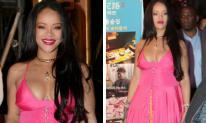 Rihanna mặc đồ sến súa tại Hàn Quốc nhưng vòng một 'căng tràn bờ đê' của cô mới là điểm đáng chú ý
