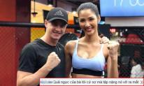 Hoàng Thùy o ép vòng một đến ngộp thở khi tập luyện cho Miss Universe 2019