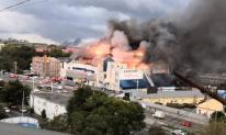 """Biển lửa """"nhấn chìm"""" trung tâm thương mại ở Nga"""