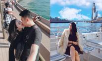 Hot girl Vân Navy ngọt ngào hôn chồng khi đi du lịch ở Úc