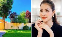 Hé lộ không gian vườn nhà của Hoa hậu Phạm Hương tại Mỹ