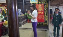 Hoa hậu Diệu Hân về tận nhà viếng đại tướng Võ Nguyên Giáp