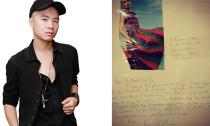 Khách hàng nước ngoài viết thư tay khen ngợi trang phục của Đỗ Mạnh Cường