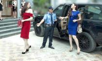 """Bắt gặp Hoa hậu Diện Hân và Á hậu Tú Anh """"cưỡi"""" xế khủng vi vu thành phố Vinh"""