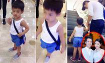 Con trai Đăng Khôi sành điệu như fashionista nhí