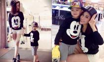 Bạn gái cũ Trấn Thành và con trai diện đồ ton-sur-ton đi mua sắm