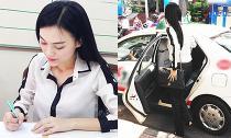 Bắt gặp Cao Thùy Linh giản dị đi nộp phạt vì thi Hoa hậu 'chui'