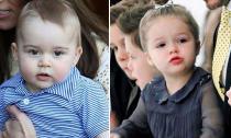 Bé Harper và Hoàng tử George được yêu thích nhất nước Anh