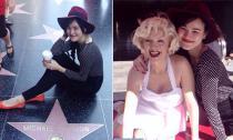Tuyết Lan 'đọ sắc' cùng tượng sáp Marilyn Monroe