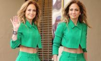 Jennifer Lopez khoe eo thon săn chắc ở tuổi 45