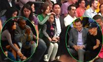 Nhà Triệu Vy 'chịu chơi' sang Los Angeles xem bóng rổ