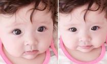 Ngắm con gái Elly Trần má phính cực dễ thương