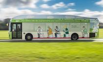 Xe buýt sinh học chạy bằng chất thải của người
