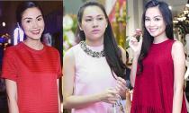Muôn kiểu váy áo giấu bụng bầu của sao Việt