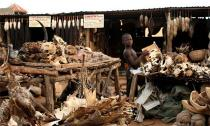 Hình ảnh rùng rợn ở khu chợ đầu lâu độc nhất vô nhị trên thế giới