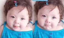 Bé Cadie được mẹ Elly Trần làm điệu với kẹp tóc