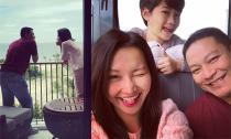 Vợ chồng Kim Hiền hạnh phúc đưa con trai 'đi làm' cùng ở Phú Quốc