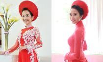Ngắm áo dài cưới đẹp hơn cả soiree của cô dâu showbiz 2014